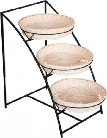 Set suport metalic cu 3 cosuri patiserie bar Raki de la Basarom Com
