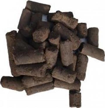 Brichete carbune lignit cilindric pentru centrale si sobe de la