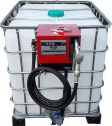 Recipient/bazin IBC 1000L cu pompa Cube56 de la Simba's Group Srl