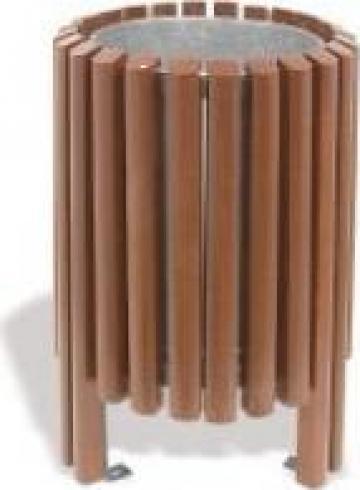 Cos de gunoi pentru exterior din lemn 40l