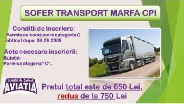 Atestat transport marfa (CPI)