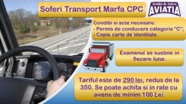 Atestat transport marfa