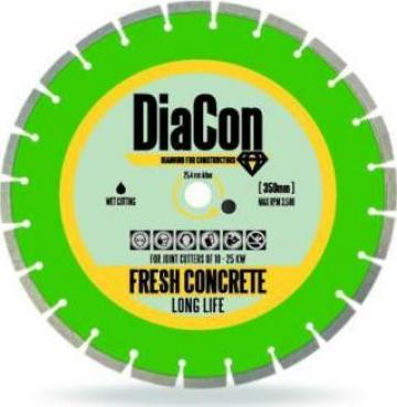 Disc diamantat beton proaspat DiaCon 350 mm de la Imocon Srl