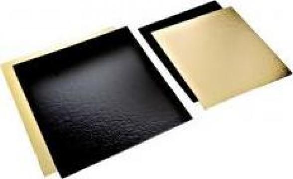 Planseta dreapta auriu/negru 15x15cm de la Cristian Food Industry Srl.