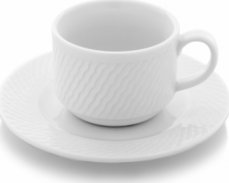 Ceasca cu farfurioara portelan 230cc ceai colectia Panama de la Basarom Com