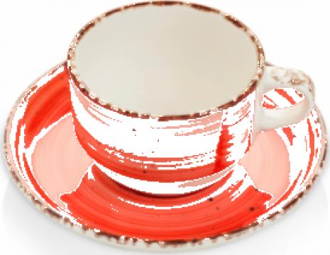 Ceasca cu farfurioara Gural colectia Red 230ml de la Basarom Com