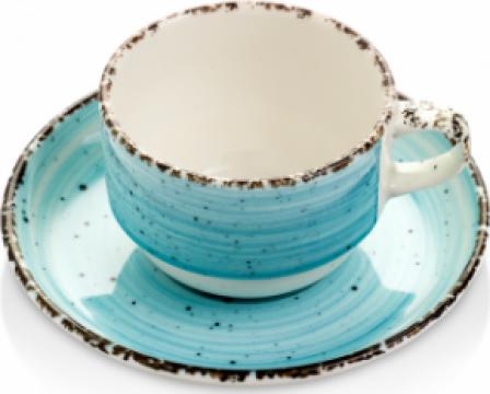 Ceasca cu farfurioara Gural colectia Turquoise 230ml de la Basarom Com