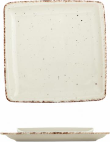 Farfurie patrata Gural colectia Side 17x17cm de la Basarom Com