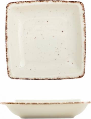 Farfurie patrata supa Gural colectia Side 19x19cm de la Basarom Com
