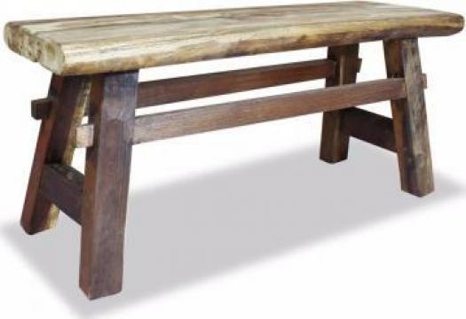 Banca din lemn masiv reciclat 100x28x43 cm de la Vidaxl