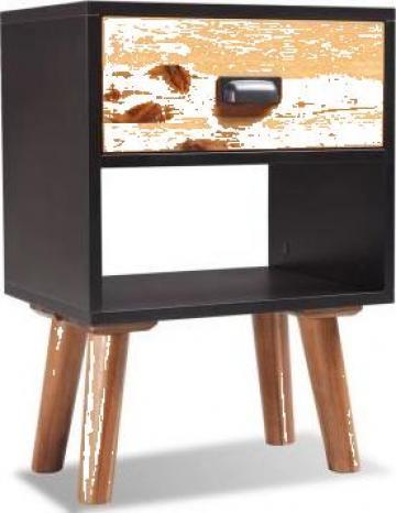 Noptiera din lemn dur de salcam 40 x 30 x 58 cm de la Vidaxl