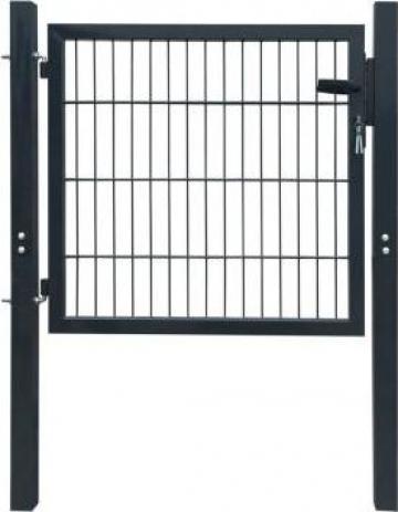 Poarta pentru gard din otel, 106 x 150 cm, antracit