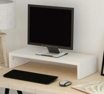 Suport monitor din placaj 60 x 23,5 x 12 cm, alb