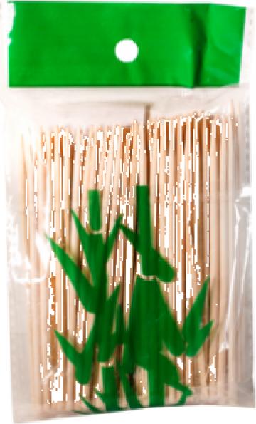 Bete bambus pentru frigarui 10cm, 100buc.