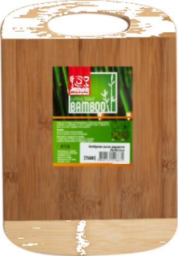 Tocator bucatarie bambus Raki 26x18x1,5cm de la Basarom Com