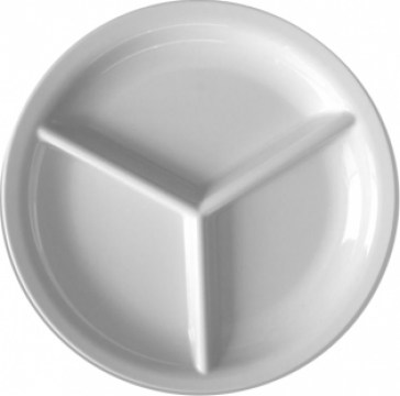 Farfurie rotunda cu 3 compartimente Raki 24xh2,8cm melamina de la Basarom Com