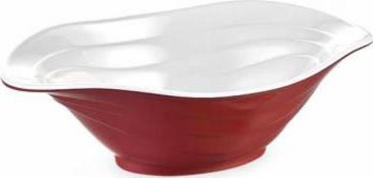 Bol bicolor Raki Duet red / white 33x23cm de la Basarom Com