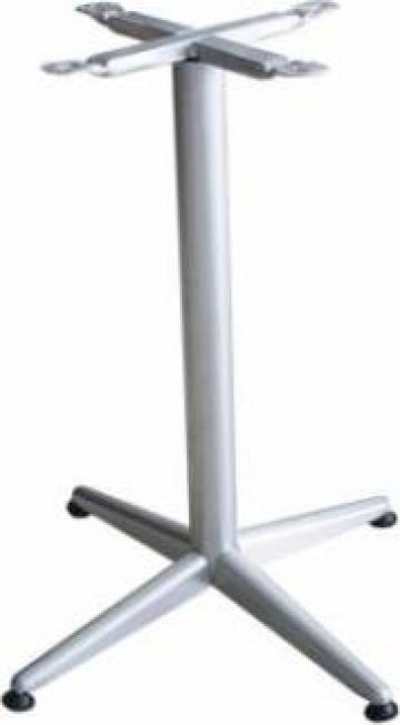Picior, baza pentru blat patrat, rotund culoare gri clasic de la Basarom Com