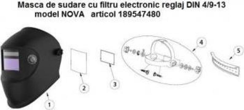 Masca de sudura cu filtru automat 9-13 ClearVision de la Furitech Srl