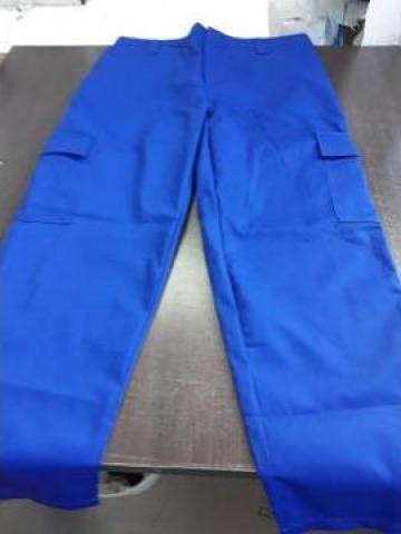 Pantaloni de paza albastri de la Sc Atelier Blue Srl