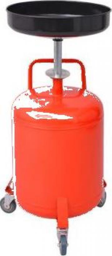 Rezervor decantare ulei uzat, 49,5 L, otel, rosu de la Vidaxl