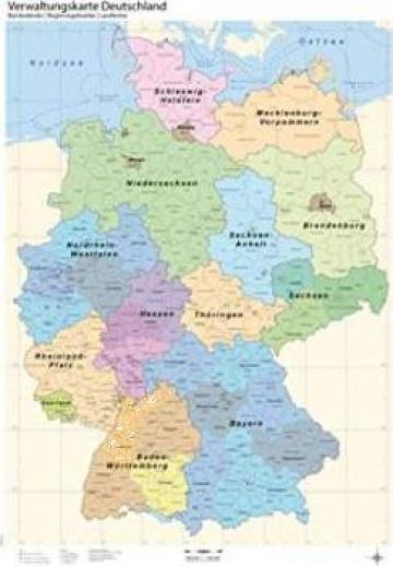 Harta Administrativa Germania Bucuresti Georesearch Srl Id