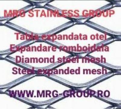 Tabla otel expandata 3x1000x2000mm, 43x20mm plasa expandata de la MRG Stainless Group Srl