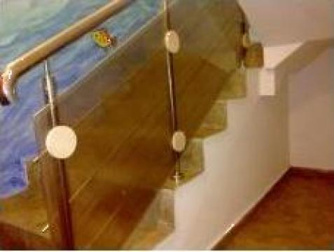 Balustrada placata cu policarbonat