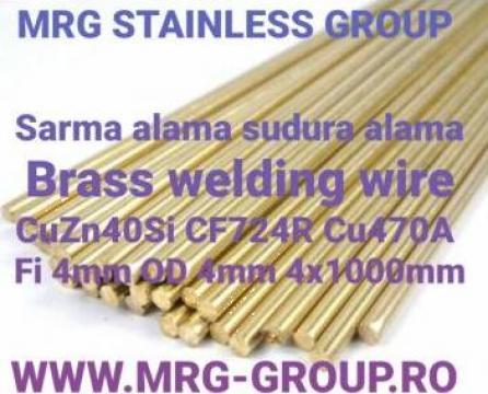 Sarma sudura alama 4mm CuZn40Si bagheta vergea tija brazare de la MRG Stainless Group Srl