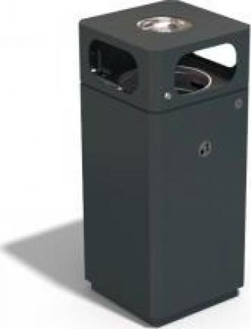 Cos de gunoi exterior metalic cu scrumiera 172