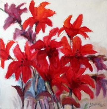 Pictura cu crini de la Gallery Art Bissinger Srl