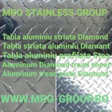 Tabla aluminiu striata Diamond 1.5x1000x2000 antiderapanta de la MRG Stainless Group Srl