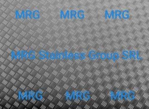 Tabla aluminiu striata Quintett 2x1500x3000mm Diamond inox