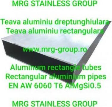 Teava aluminiu dreptunghiulara 200x50x2.5mm rectangulara