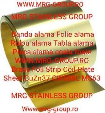 Banda alama CuZn37 CW508L folie alama