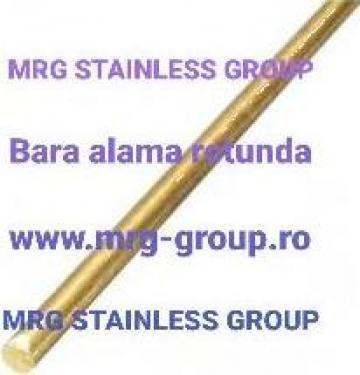 Bara alama rotunda 8x3000mm, Brass bars CuZn39Pb3 I