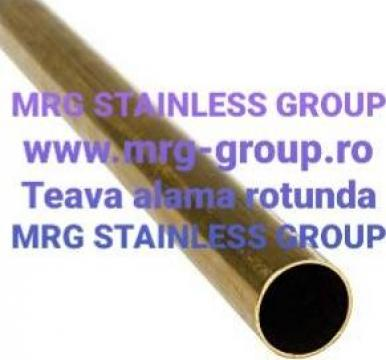 Teava alama rotunda 12mm CuZn37 CW508L aluminiu, inox, cupru
