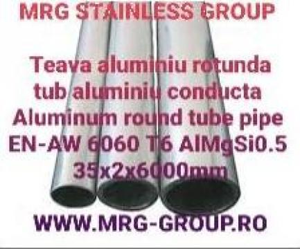 Teava aluminiu rotunda 35x2mm conducta aluminiu tub aluminiu de la MRG Stainless Group Srl