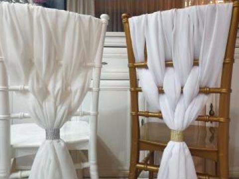 Esarfe pentru scaune Chiavari/Tiffani, decor scaune cu voal de la Klar Design Srl