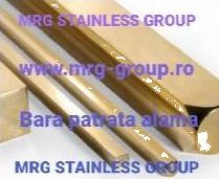 Bara patrata alama 7x7mm CuZn39Pb3 CW614N de la MRG Stainless Group Srl