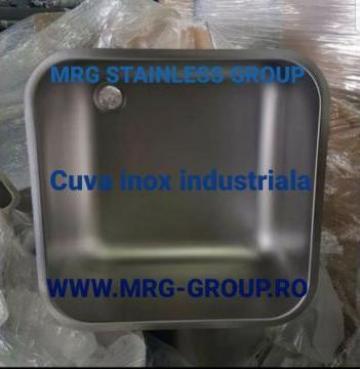 Cuva inox industriala 400x400x300mm inox pentru uz alimentar de la MRG Stainless Group Srl