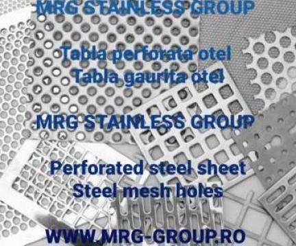 Tabla perforata otel, inox, aluminiu, otel zincat, alama de la MRG Stainless Group Srl