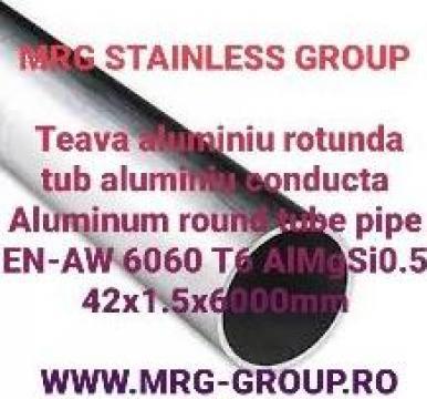 Teava aluminiu rotunda 42x1.5mm de la MRG Stainless Group Srl
