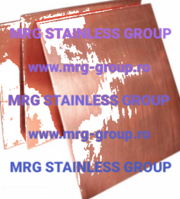 Tabla cupru Cu-OF OF-Cu CW008AW 2.0040 min 99.9% Cu copper