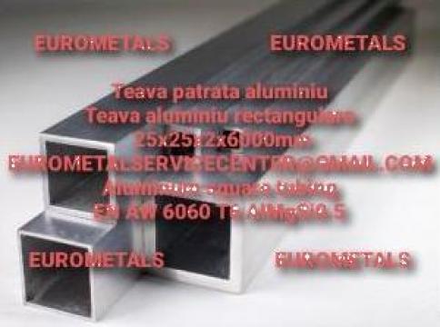 Teava aluminiu patrata 25x25x2mm