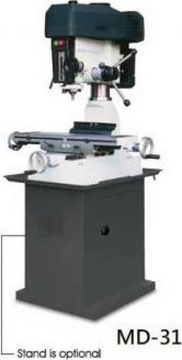 Masina de frezat si gaurit metale de banc 32 mm MD-31 de la Proma Machinery Srl.