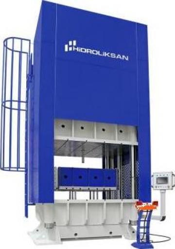 Presa hidraulica cu coloana H cu simplu efect HCFP/200 de la Proma Machinery Srl.