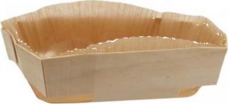 Forma din lemn pentru copt pasca 200x180x45mm de la Cristian Food Industry Srl.