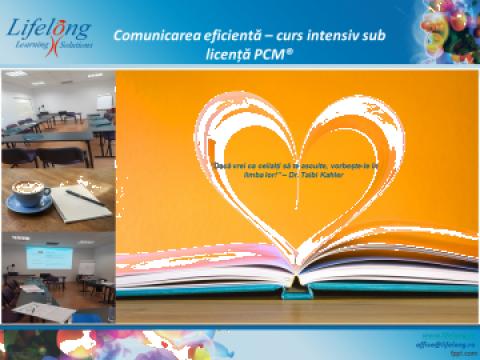 Seminar (curs online) sub licenta PCM Comunicarea eficienta de la Lifelong Learning Solutions Srl