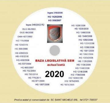 CD cu legislatie SSM actualizata - 40 acte normative uzuale de la Saint Michele Srl